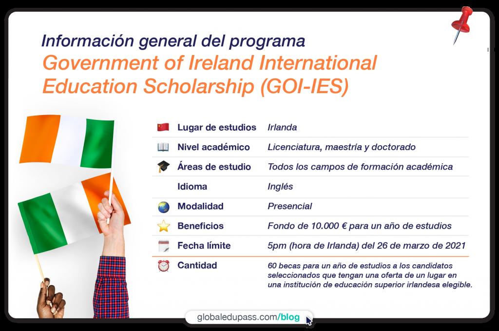 becas gubernamentales para estudiar en irlanda
