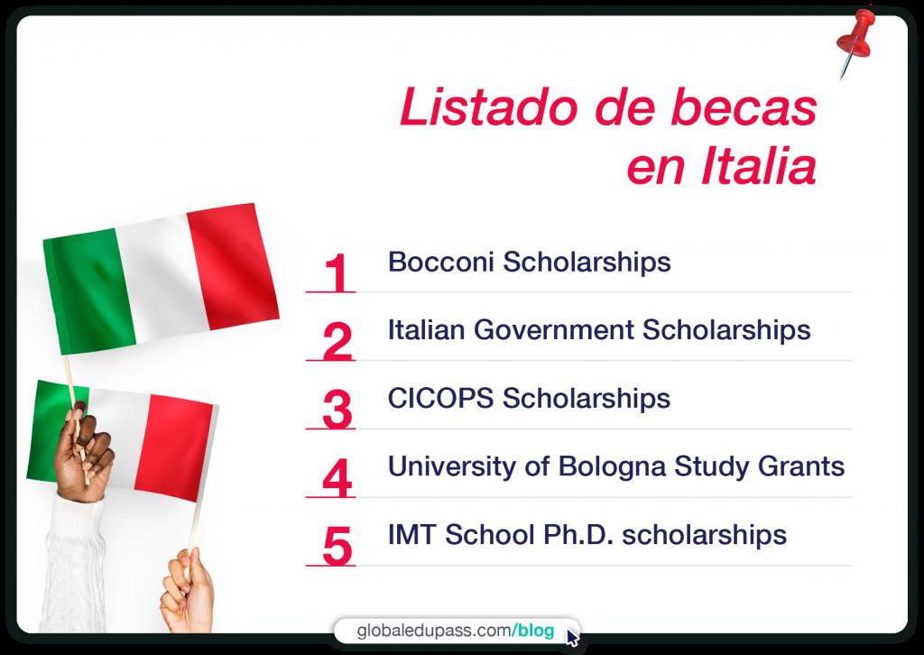 las mejores becas en Italia para estudiantes internacionales