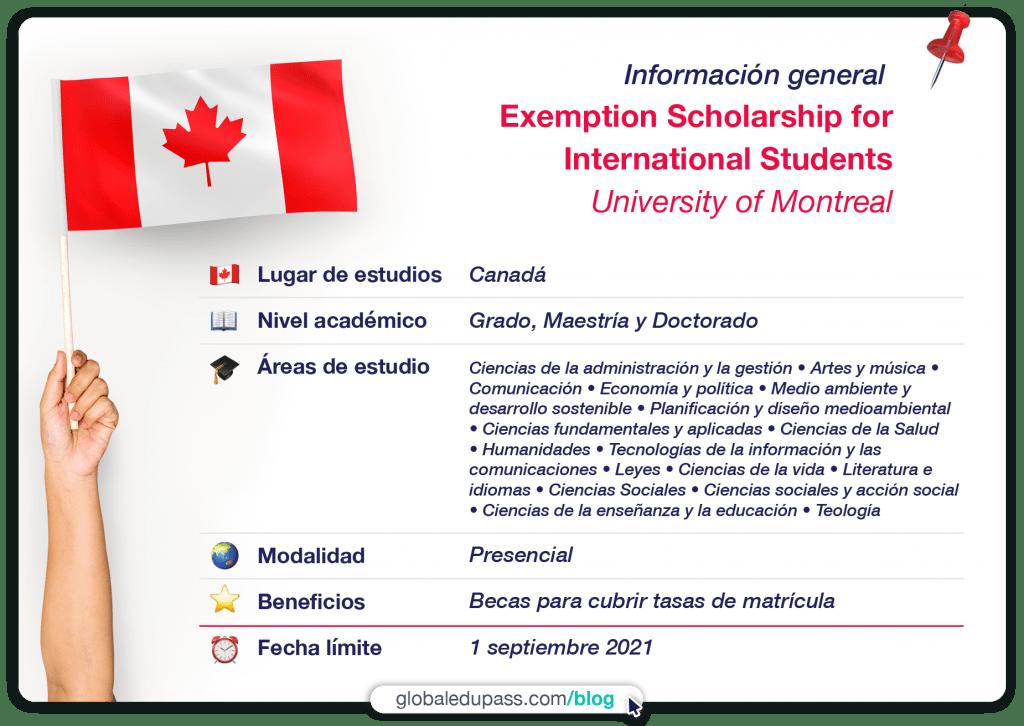 becas en canada university of montreal