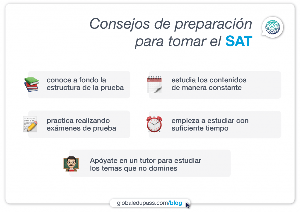 Consejos para un puntaje competitivo en el SAT