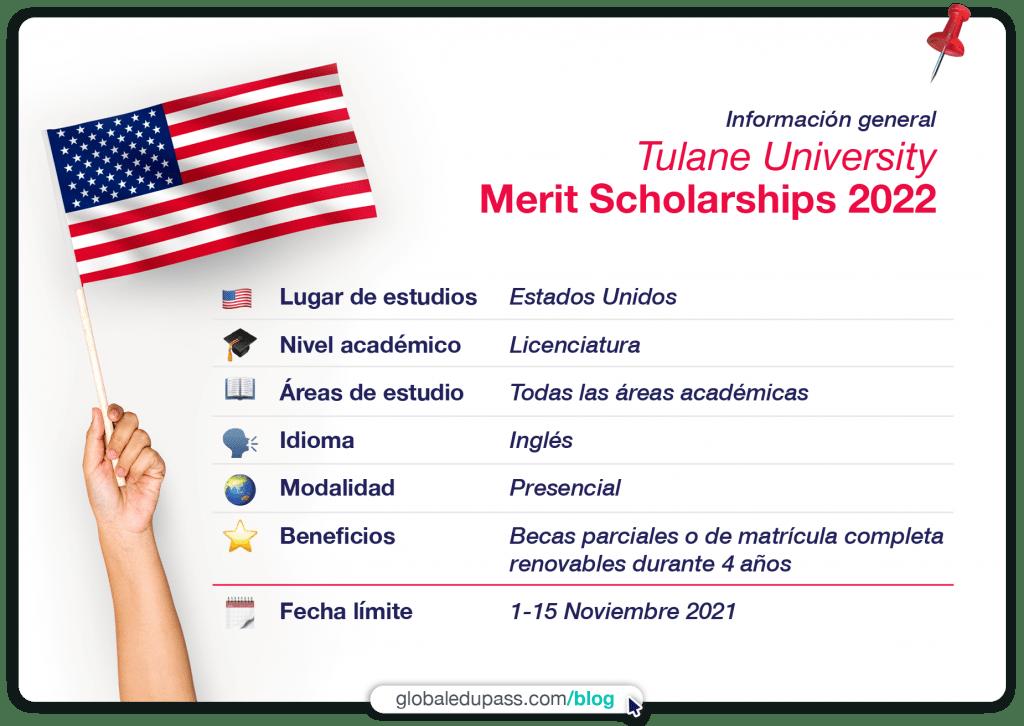 becas en Estados Unidos para licenciaturas en Tulane University