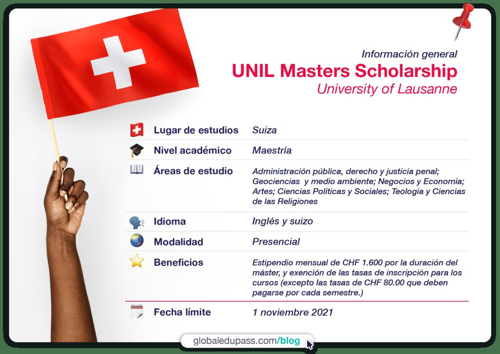 Oportunidad de becas en Suiza para estudios de maestria